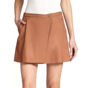 Theory Kirti Lightweight Wool Mini-Wrap Skirt